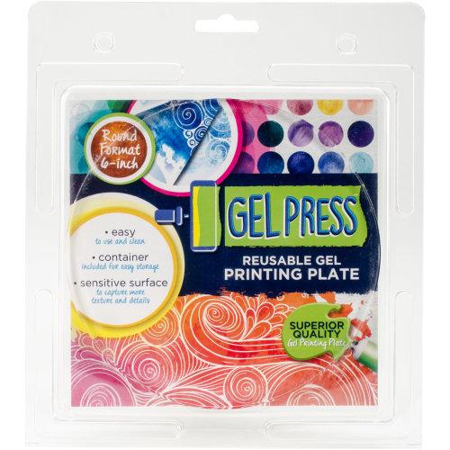 "Gel Press Gel Circle 6""-"