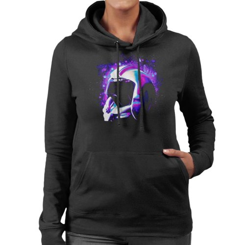 Original Stormtrooper Rebel Pilot Helmet Galaxies Women's Hooded Sweatshirt