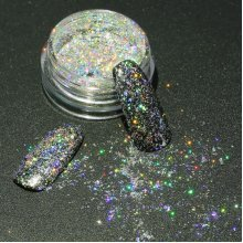 DANCINGNAIL Holographic Nail Powder Holo Glitters Pigment Laser Effect Rainbow Decoration