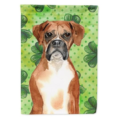 Carolines Treasures CK1810CHF Shamrocks Boxer Flag Canvas House Size