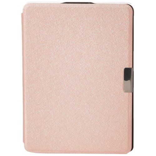 kwmobile Case for Kobo Aura Edition 2 - Book Style PU Leather Protective e-Reader Cover Folio Case - Rose Gold