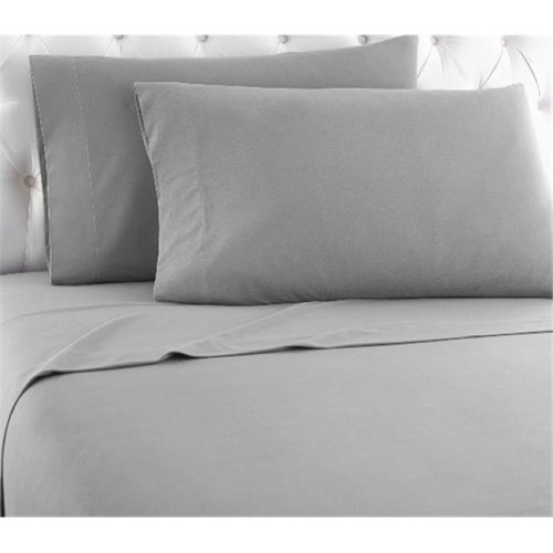 Shavel MFNSSTWGRS Micro Flannel Twin Greystone Sheet Set