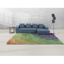 Carpet - Rug - colourful - rainbow-colour carpet - polyester - BURSA