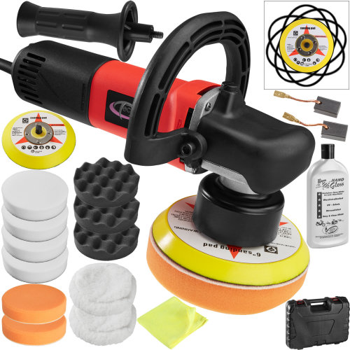 Dual action polisher 710W + 16 piece polishing set