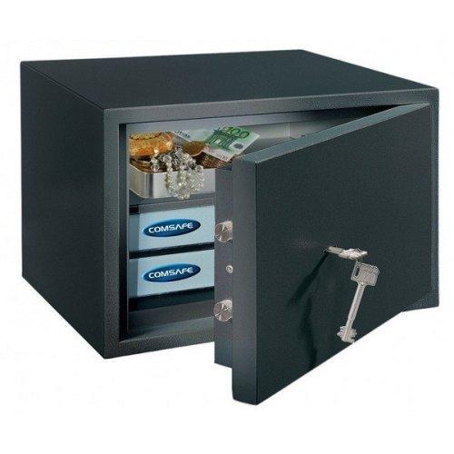 Safe Home Office Security Key Lock Black Rottner Power 300 It