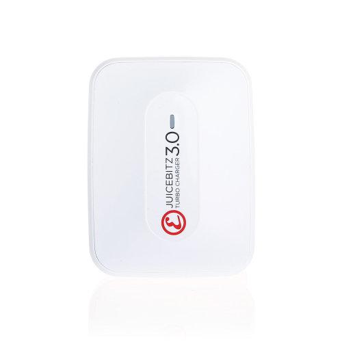 JuicEBrick v3.0 25W 3 USB Port Fast Mains Charger - White | Fast Charger Plug
