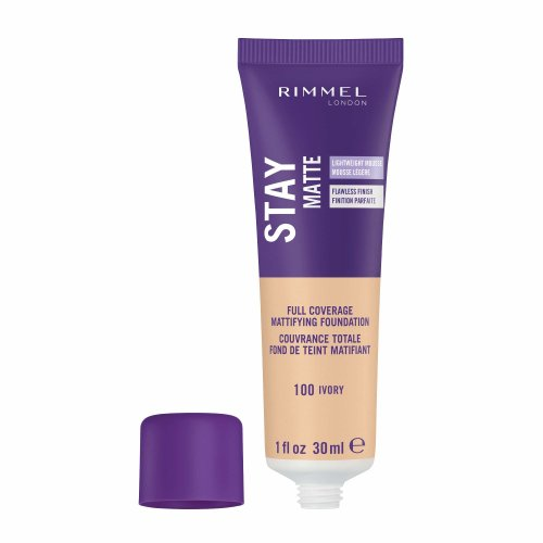 Rimmel London Stay Matte Foundation, 100 Ivory, 30 ml