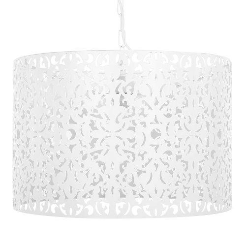 Metal Pendant Lamp White CHELIF