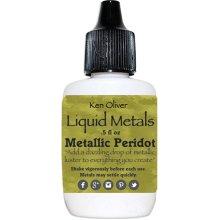 Ken Oliver Liquid Metals .5fl oz-Metallic Peridot