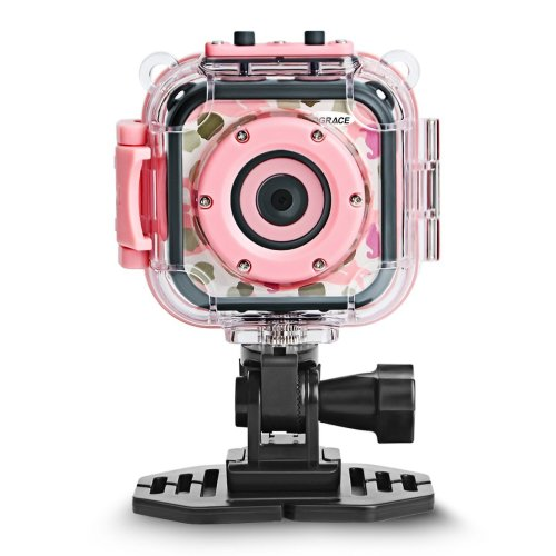 DROGRACE Kids Camera 1080P Digital Photo/Video Cameras Underwater Action Cam Waterproof 98feet  for Children Girls Birthday Holiday Toys with 1.77...