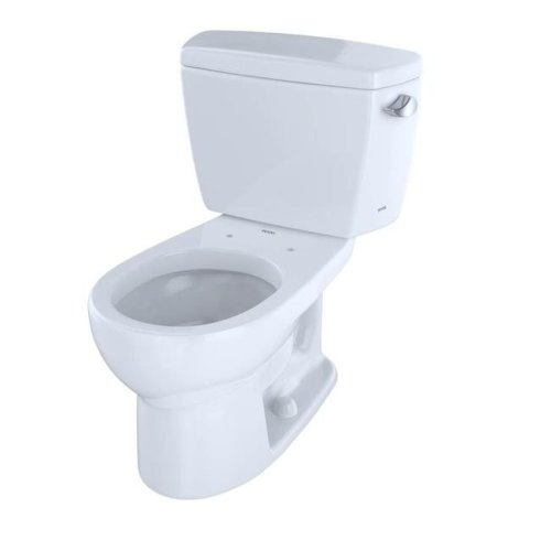 Toto CST743SR01 Round 1.6 GPF Toilet with Right-Hand Trip Lever, Cotton White