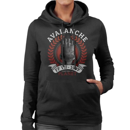 Avalanche Fight For The Planet Final Fantasy VII Women's Hooded Sweatshirt