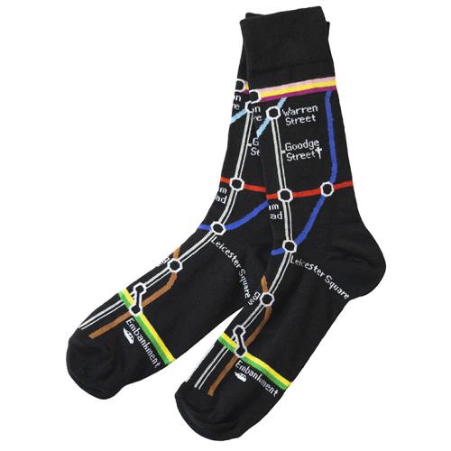 TFL6301 Mens Licensed Underground Tube Map Sock Size 6-11