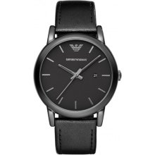 Emporio Armani AR1732 Watch Black Leather Man