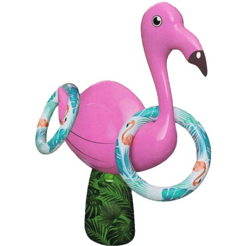Inflatable Flamingo Hoopla Ring Toss Kids Beach & Garden Throwing Game