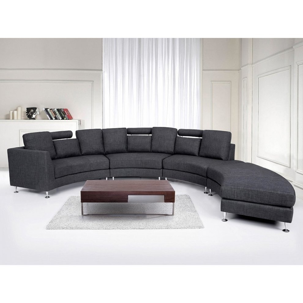 Modern Round Sectional Sofa In Fabric Rotunde