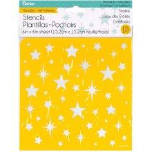 """Reusable Self Adhesive Stencil 6""""X6""""-Starlite"""