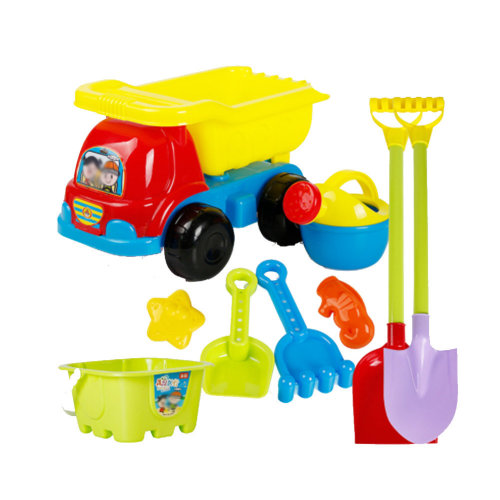 9 Piece Beach sand Toy Set, Bucket, Shovels, Rakes,Perfect for Holding Childrens' Toys#B