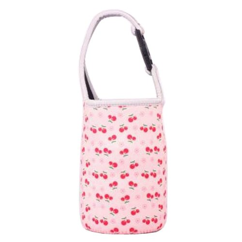 Lovely Baby Bottle Tote Bag Food Jar Tote Bag Lunch Box Bag Cherry