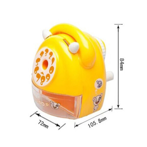 Telephones Sets Manual Pencil Sharpener for Office and Classroom (Yellow)