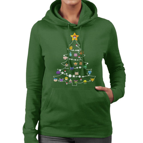 Pokemon Bulbs Christmas Tree Women's Hooded Sweatshirt