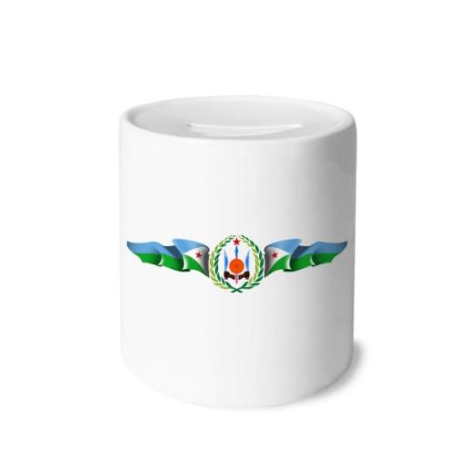 Djibouti National Emblem Country Symbol Money Box Saving Banks Ceramic Coin Case Kids Adults