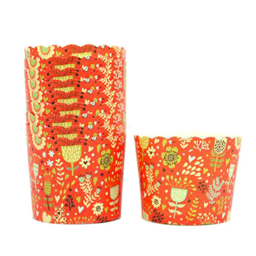 150PCS Lovely Pattern Baking Paper Cups Cake Cup Cupcakes Cases, Orange
