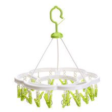 Quality Circular Convenient Drip Hanger Drying Rack With 24 Clips ( Green )
