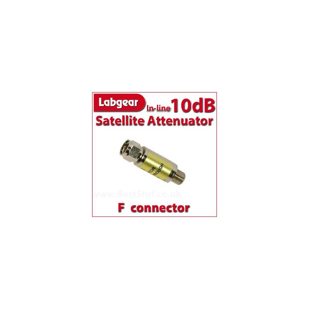 Labgear 10dB Inline Satellite Attenuator F connector Male to Female