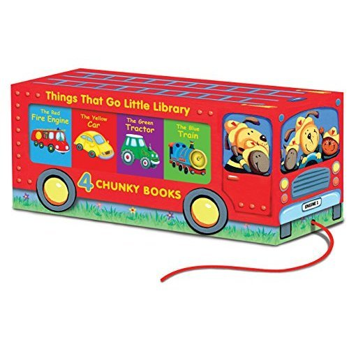Pull Along Books - Vehicle Sounds Little Library: 4 Chinky Books