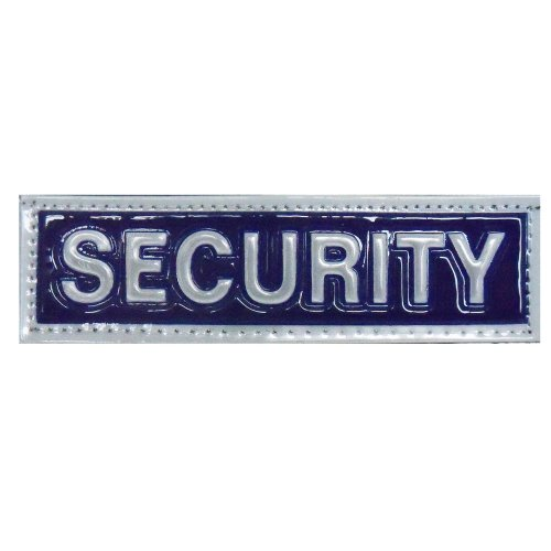 Reflective SECURITY Patch -Blue-10 x 3cm