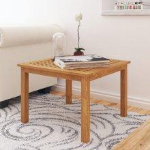 vidaXL Side Table Solid Walnut Wood 60x60x45 cm