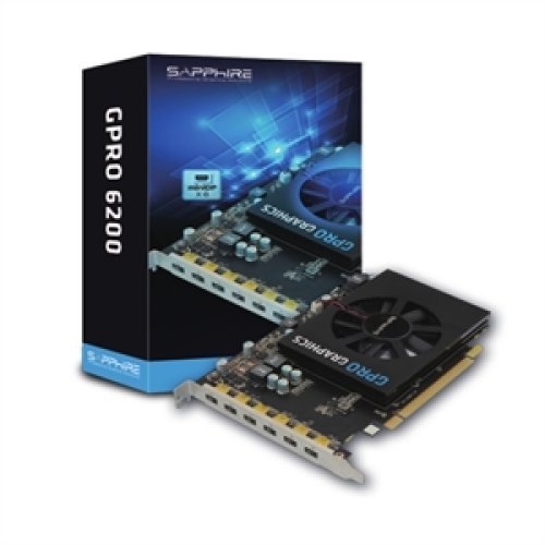 Sapphire Gpro 6200. Graphics Processor Family: Amd. Discrete Graphics Adapt 32258-00-21G