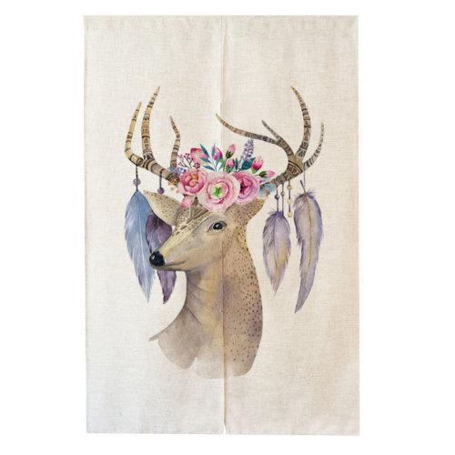 Decorative  Elk Pattern Charming Curtain