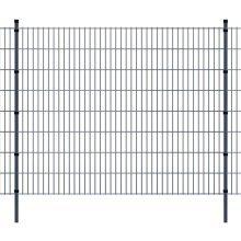 vidaXL 2D Garden Fence Panels & Posts 2008x1630 mm 24 m Grey