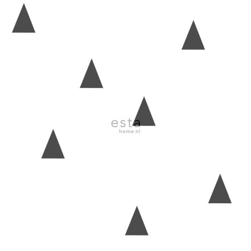HD non-woven wallpaper graphical triangles black and white