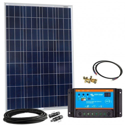Offgridtec Solar Kit 100WP–12V Solar System, Solar Module + Solar Charge Controller Steca 8A 002640