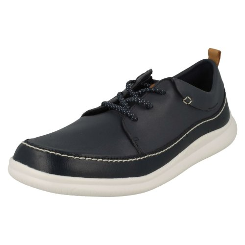 Boys Clarks Elasticated Lace Detailed Shoes Cloud Blaze - G Fit