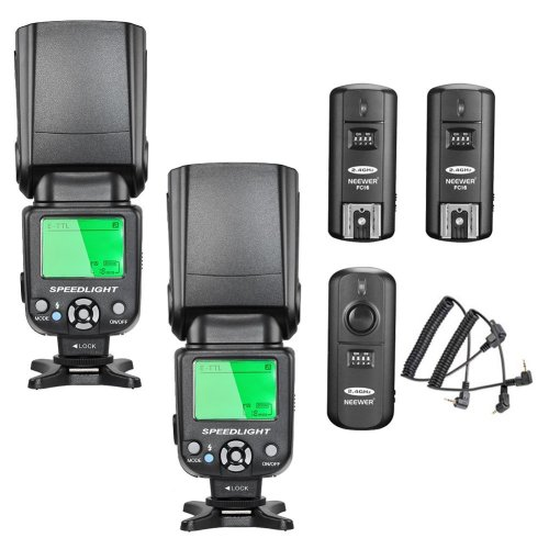 Neewer NW-562 E-TTL Flash Speedlite Kit for Canon DSLR Camera,Kit Include:(2)NW-562 Flash+(1)2.4Ghz Wireless Trigger(1 Transmitter+2 Receiver)
