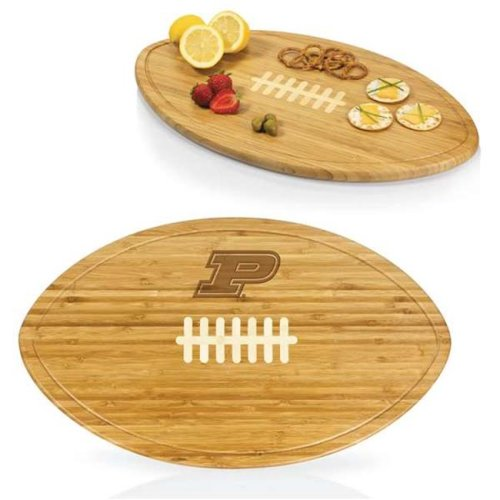 Picnic Time 908-00-505-513-0 Purdue University Boilermakers Engraved Cutting Board Party Platter & Serving Tray, Natural