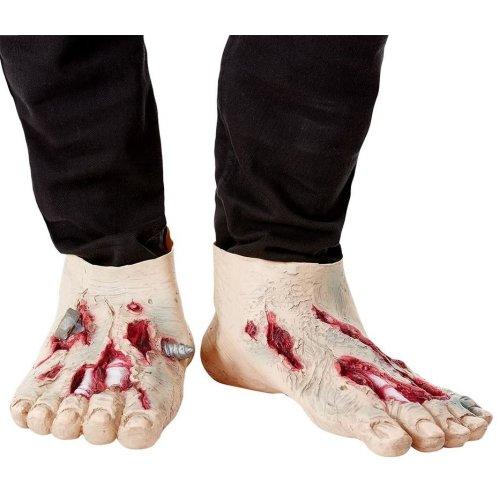 Latex Zombie Feet Halloween Fancy Dress Accessory