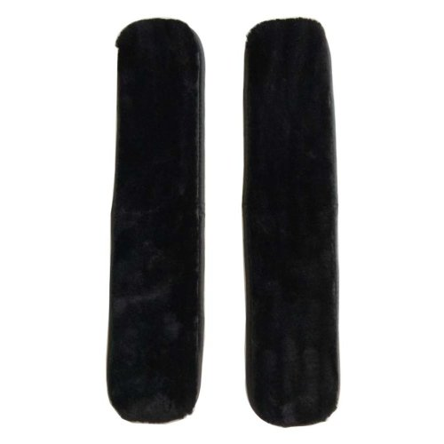 [Black] Soft Plush Chair Armrest Covers Armrest Pads for Chair