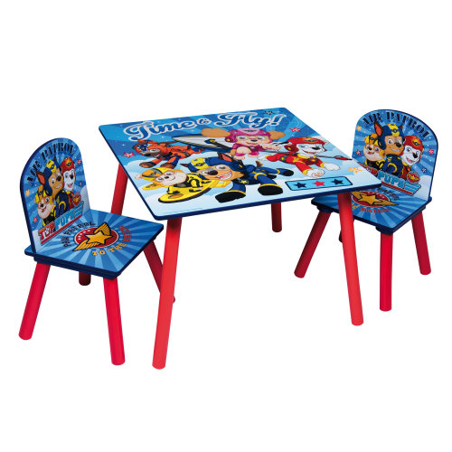 (Blue Paw Patrol) Children's Cartoon Character Table & Chair Set