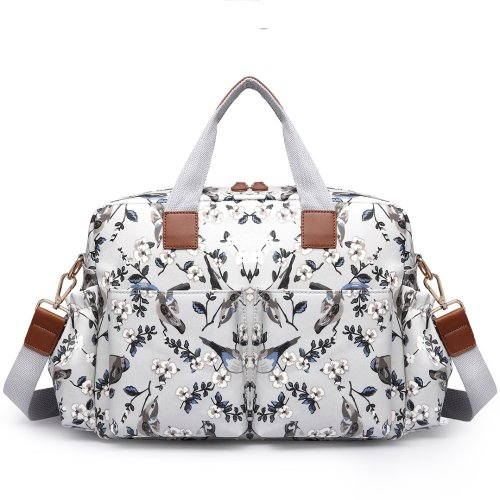 Miss Lulu 4pcs Baby Nappy Diaper Changing Bag Set Bird Flower Print