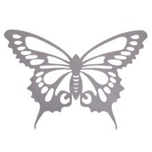 Large Reflective Finish Steel Butterfly Wall Art