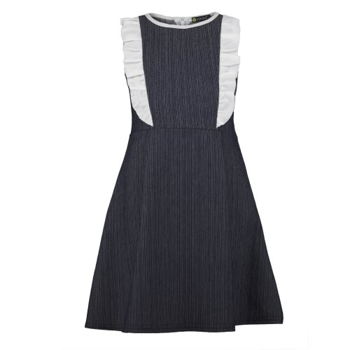 Girls Denim Dress With Contrast Inserts