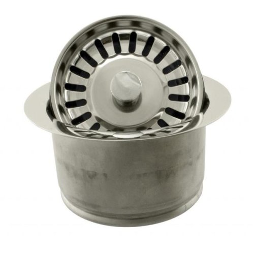 Westbrass D2082S-05 InSinkErator Style Extra-Deep Disposal Flange & Strainer in Polished Nickel