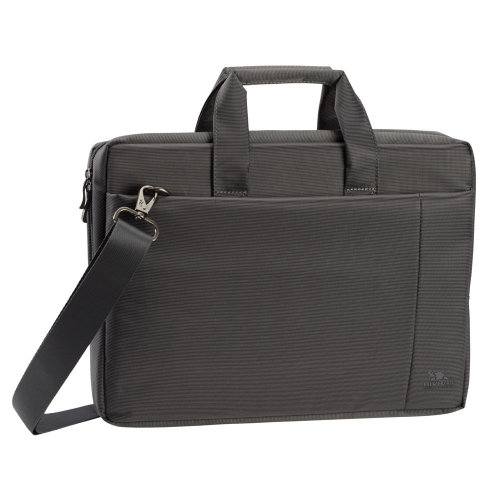 RIVACASE 8231 Polyester Bag for 15.6 Inch Laptop, Grey (8231-GREY-082310)