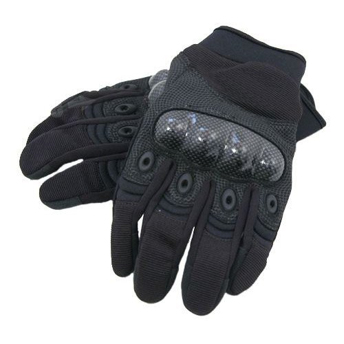 Airsoft  Gloves  Black Medium M Knuckle Protector Carbon