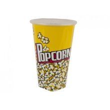 Tall Popcorn Design Decal Cup -  tall popcorn design decal cup lid fun crockery household kitchen